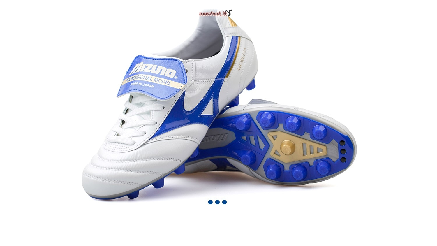 "Scarpe da Calcetto Mizuno Morelia II JAPAN ""Legend Blue"" MD Bianco"