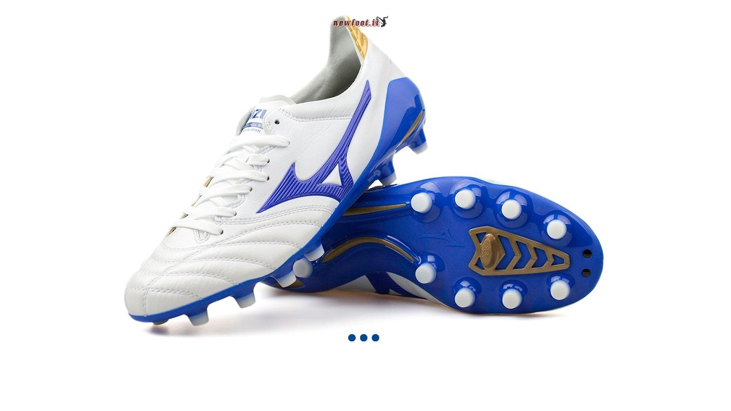 "Scarpe da Calcetto Mizuno Morelia Neo II JAPAN ""Legend Blue"" MD Bianco"