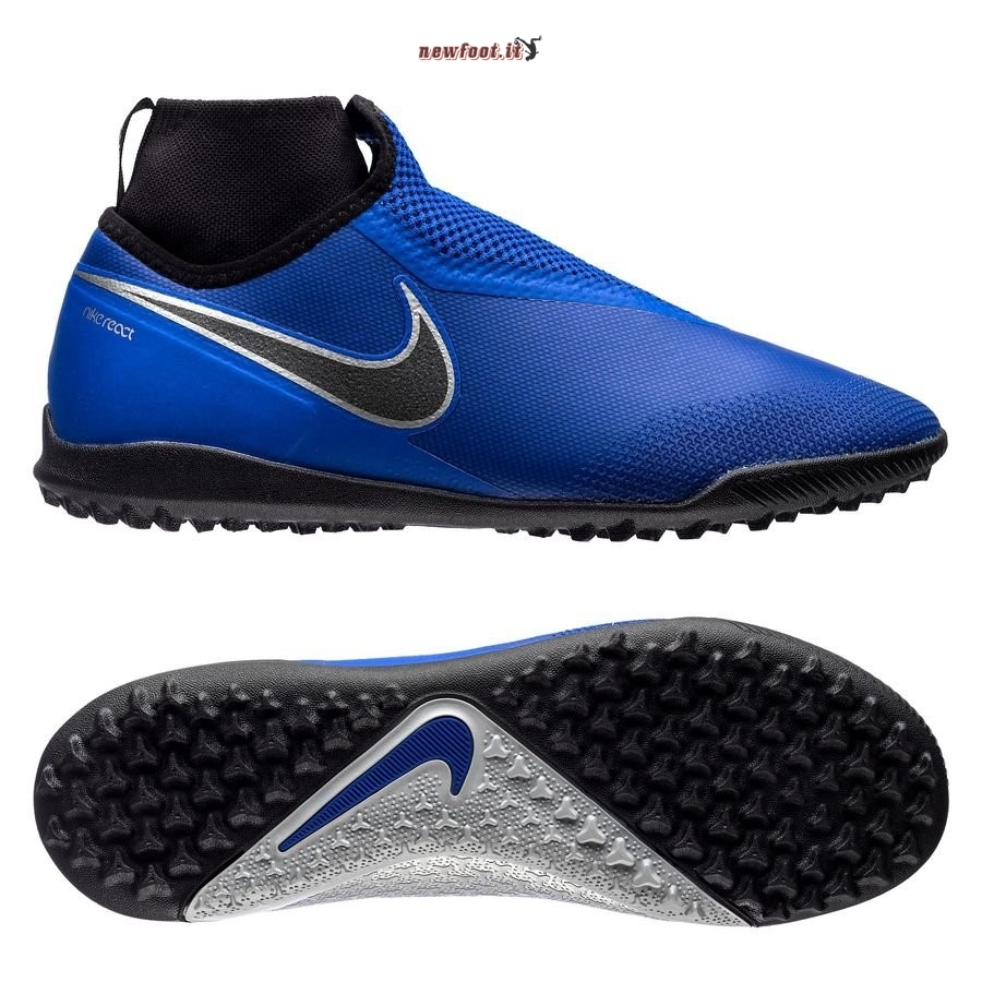 Scarpe da Calcetto Nike Phantom Vision React Pro DF TF Blu