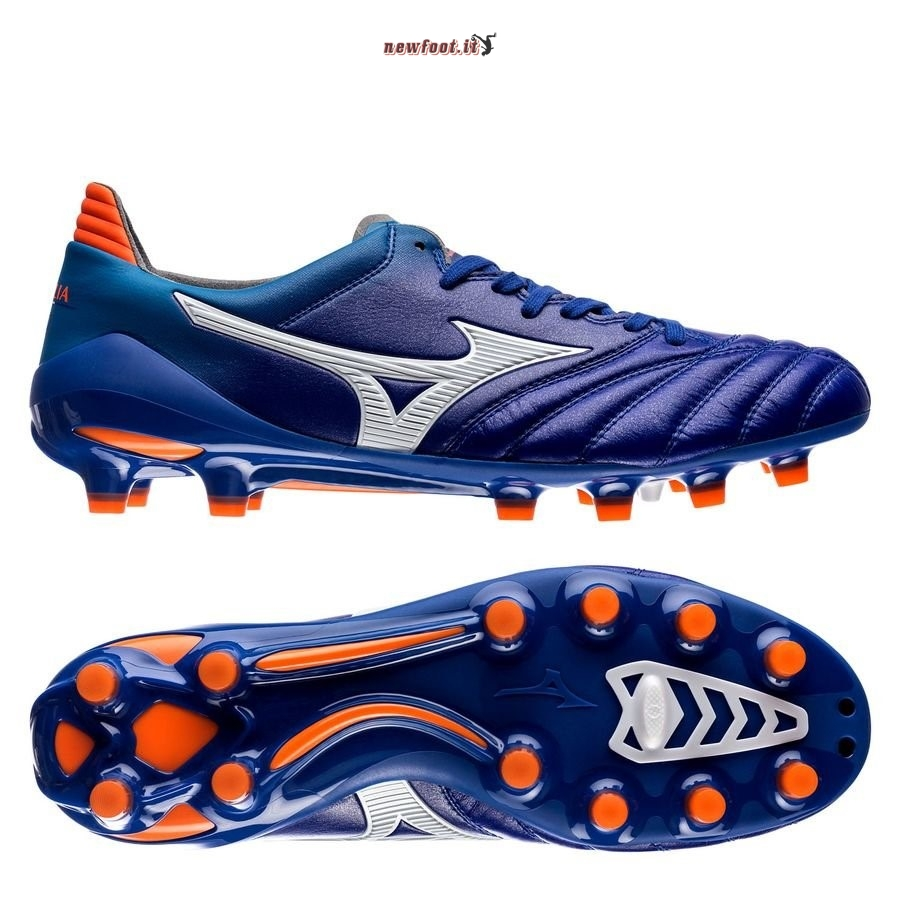 Scarpe da Calcetto Mizuno Morelia Neo II Made in Japan FG Blu Arancia