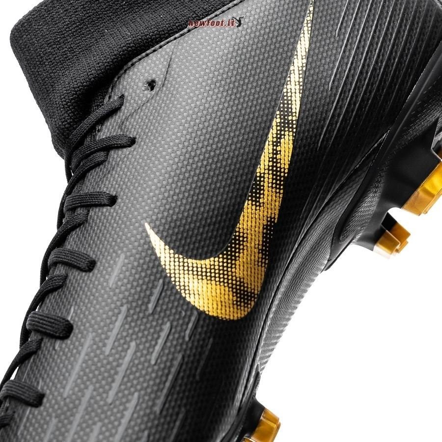 Scarpe da Calcetto Nike Mercurial Superfly 6 Academy MG Black Lux Nero Oro