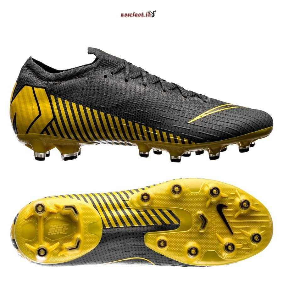 Scarpe da Calcetto Nike Mercurial Vapor XII Elite AG PRO Game Over Nero Giallo