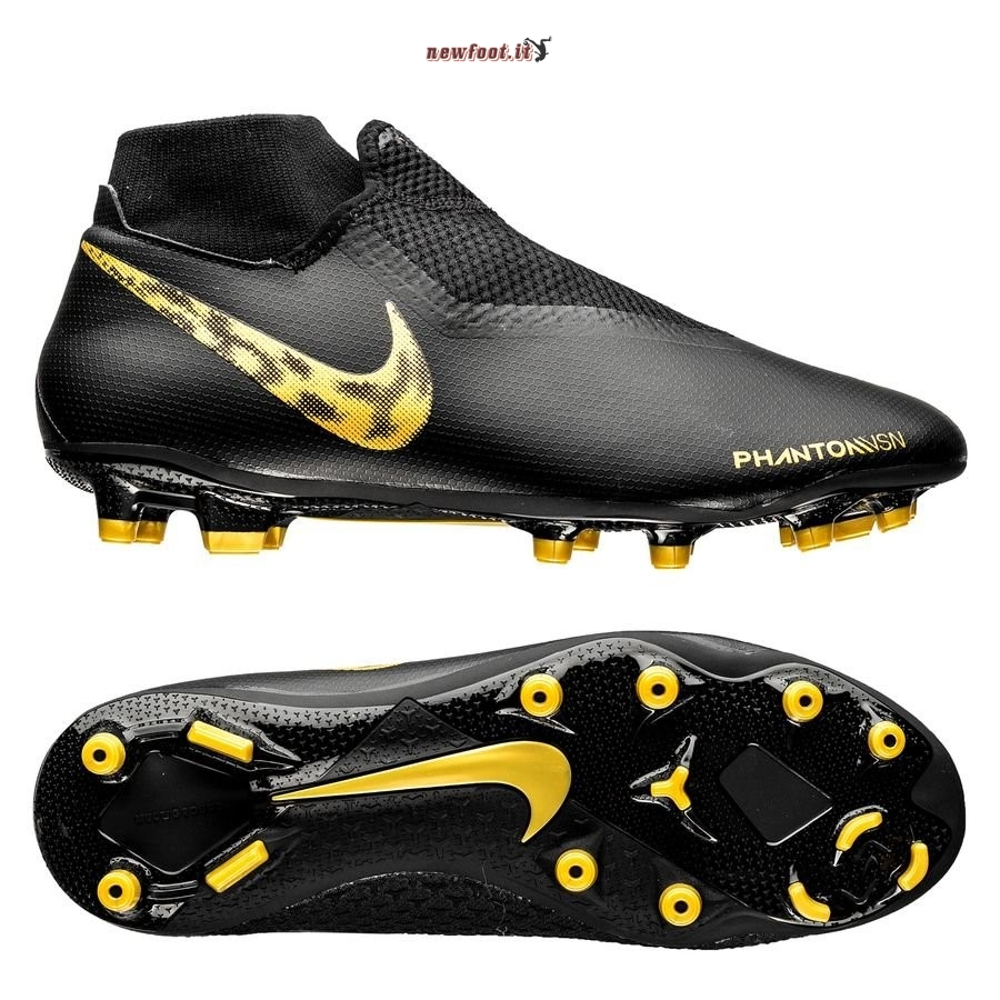 Scarpe da Calcetto Nike Phantom Vision Academy DF MG Black Lux Nero