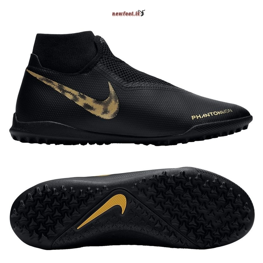 Scarpe da Calcetto Nike Phantom Vision Academy DF TF Black Lux Nero