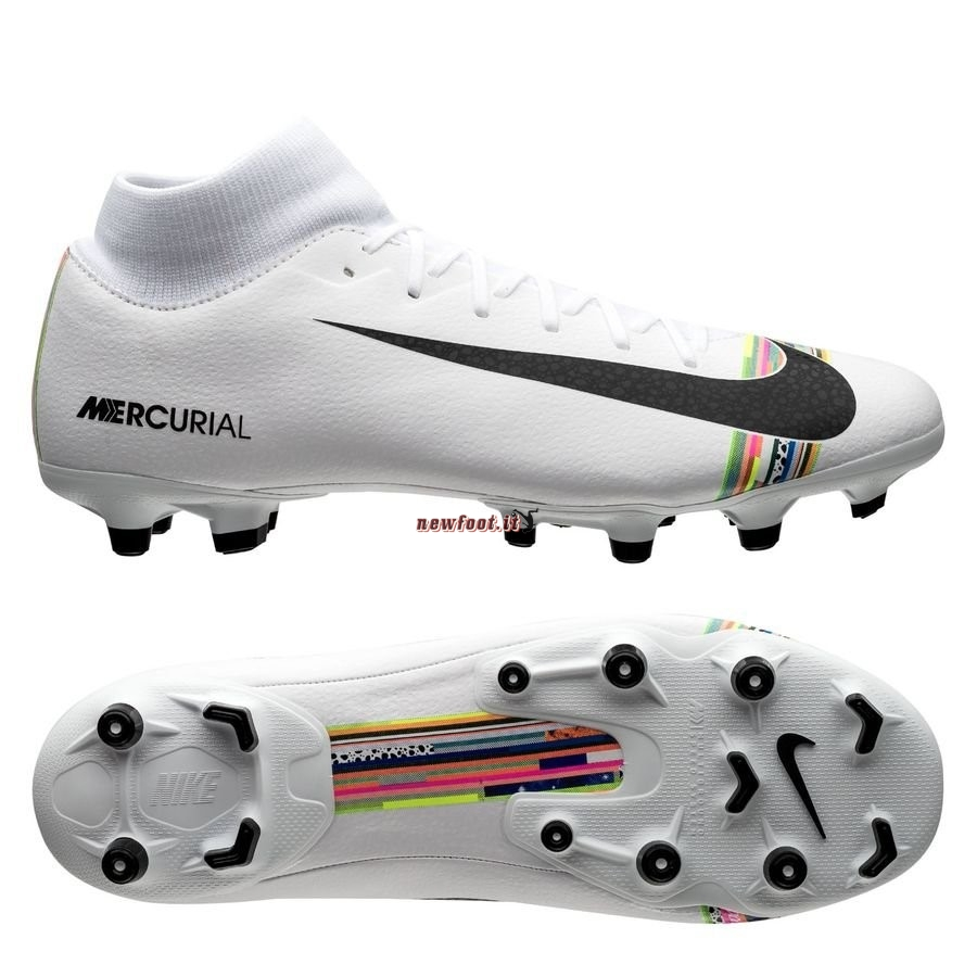 Scarpe da Calcetto Nike Mercurial Superfly 6 Academy MG LVL UP Bianco
