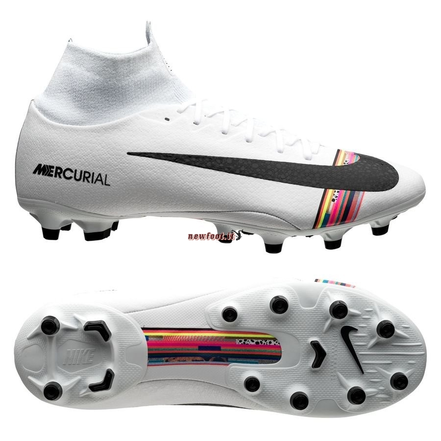 Scarpe da Calcetto Nike Mercurial Superfly 6 Pro AG PRO LVL UP Bianco