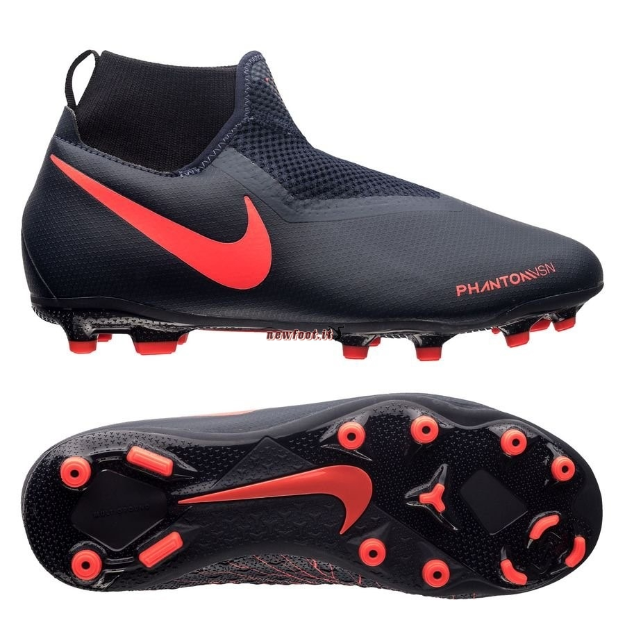 Scarpe da Calcetto Nike Phantom Vision Academy Bambini DF MG Fully Charged Nero