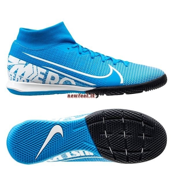 Scarpe da Calcetto Nike Mercurial Superfly 7 Academy IC Blu