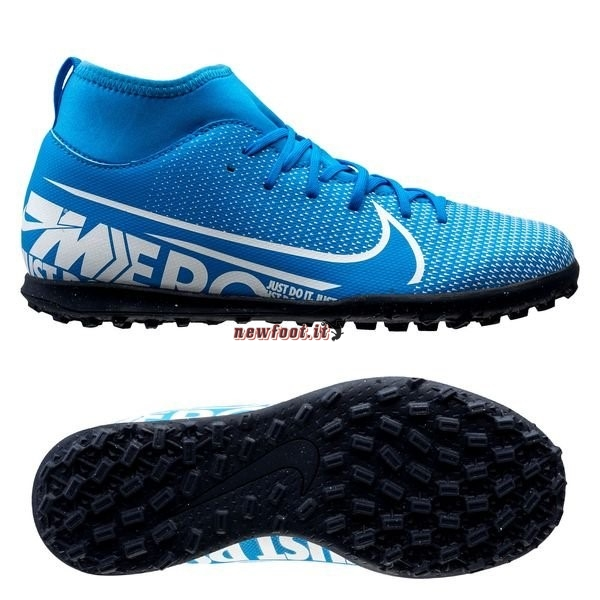 Scarpe da Calcetto Nike Mercurial Superfly 7 Club TF Blu