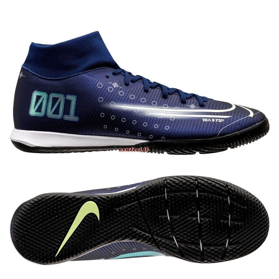 Scarpe da Calcetto Nike Mercurial Superfly 7 Academy IC Marino