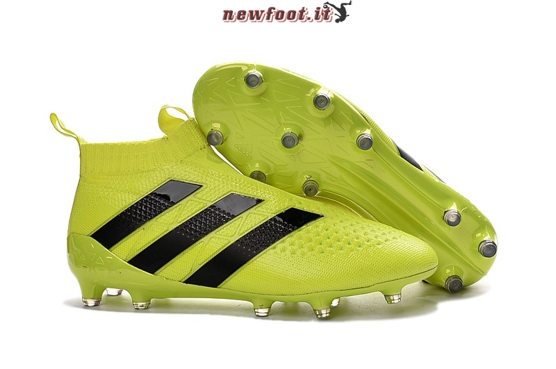 sports shoes efd80 93243 Scarpe da Calcetto Adidas Ace 16+ AG Verde Fluorescente Nero