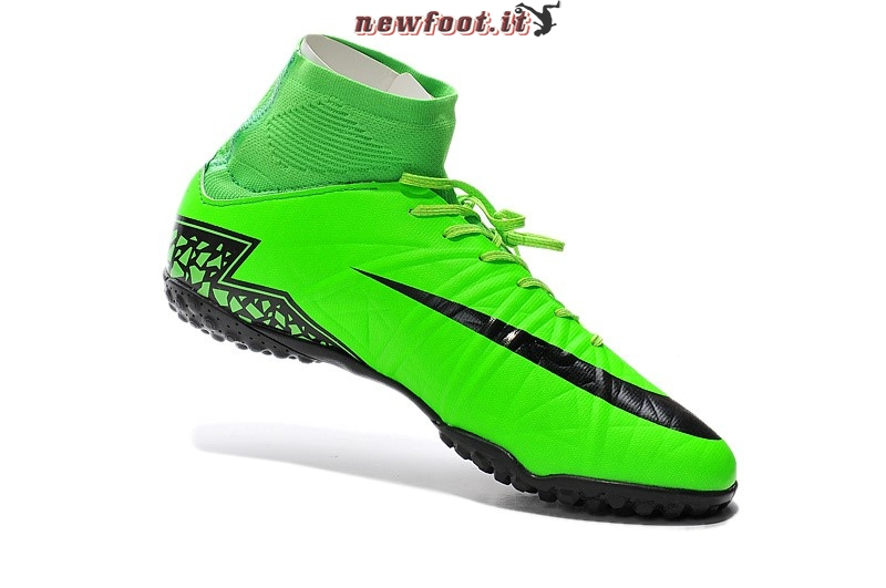 lower price with aedc7 8f008 ... Scarpe da Calcetto Nike HyperVenom Alto TF Verde Nero ...
