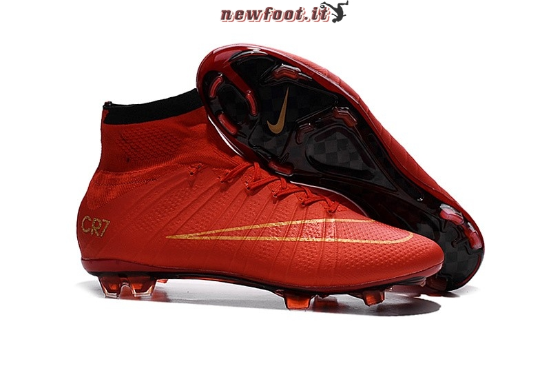 Scarpe da Calcetto Nike Mercurial Superfly CR7 FG Cremisi