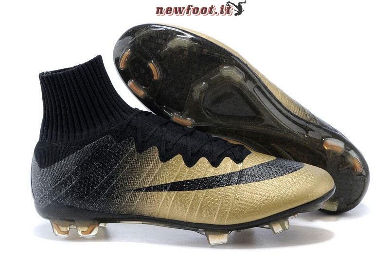 Scarpe da Calcetto Nike Mercurial Superfly CR7 FG Nero Oro